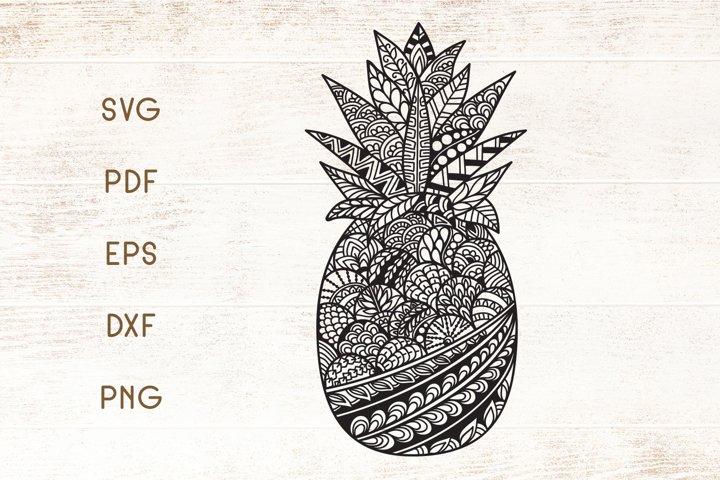 Pineapple SVG - Zentangle Doodle Art - SVG