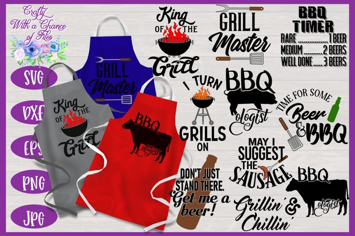 BBQ Grill Apron Bundle | Funny Dad Gift SVG Bundle