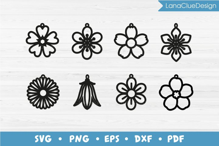 8 Wildflower Earrings SVG