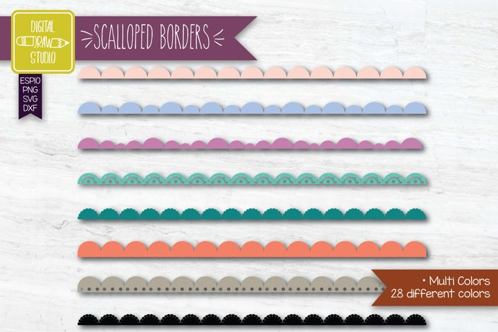 Scalloped Border Colored Lace   Divider   Illustrator brush