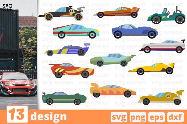 13 RACING CARS SVG BUNDLE | Car svg | Vehicles svg