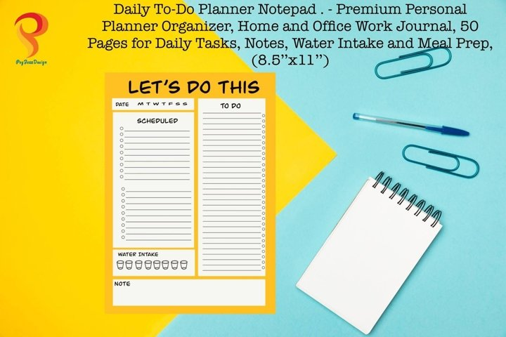Yellow Daily to do Planner