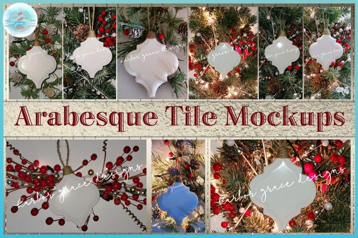 Arabesque Tile Ornament Christmas Mockup Bundle - 300dpi JPG