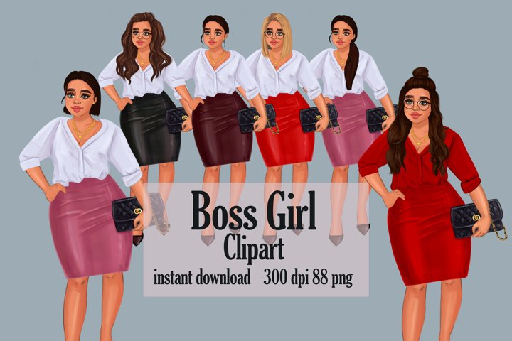 Fashion clipart, Boss girl clipart , Lady Boss clipart PNG