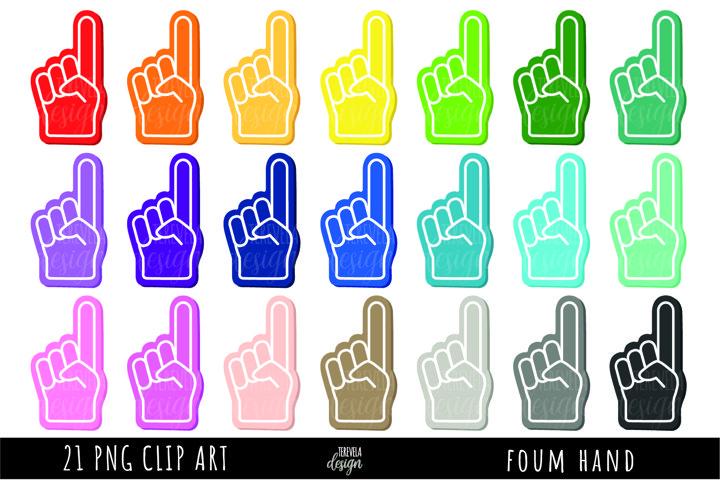 MULTICOLOR FOAM FINGER HAND, FOAM HAND, FINGER HAND