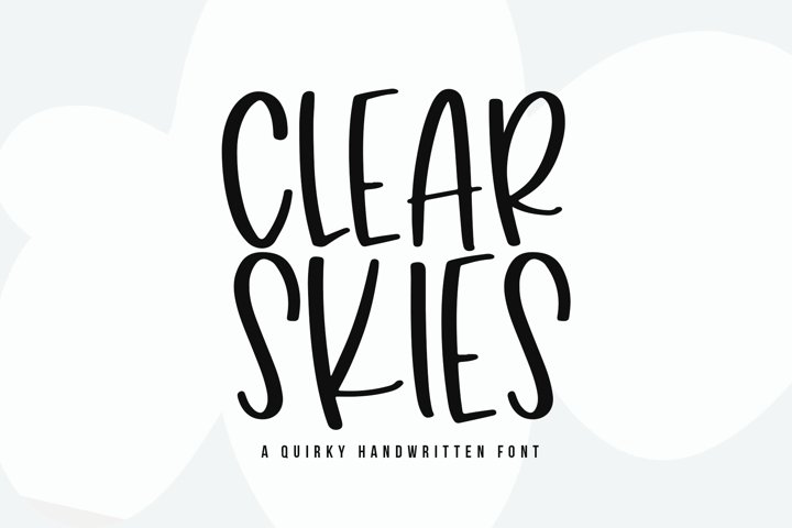 Clear Skies - A Fun Handwritten Font