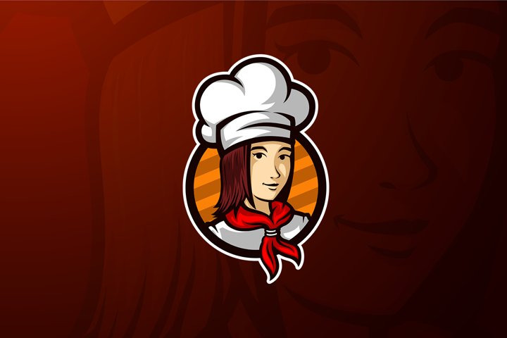 Women Chef Mascot Vector Template