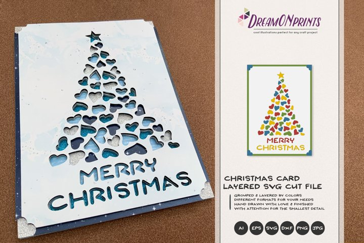 Christmas 3D Layered Design | Christmas Multi Layer Design