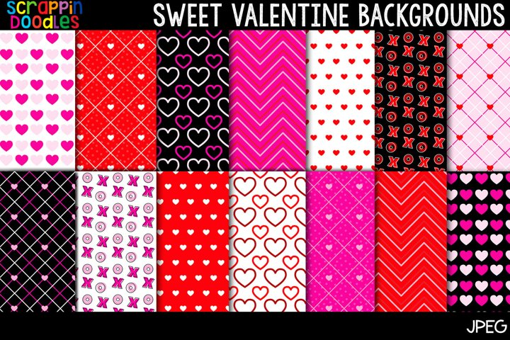 Sweet Valentine Backgrounds - 12 x 12 Backgrounds