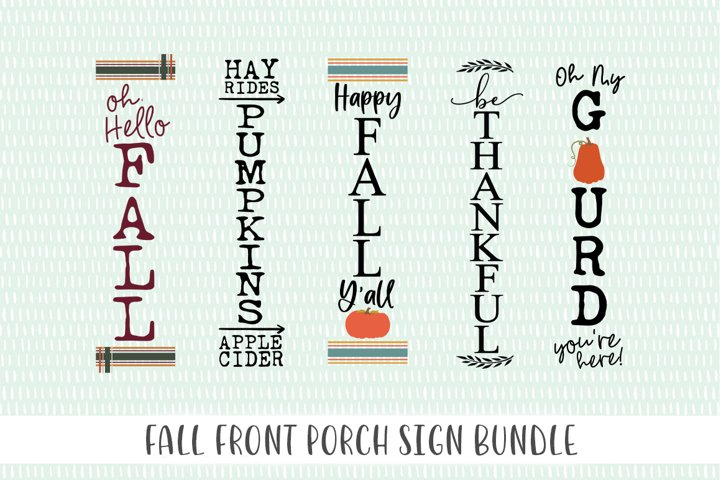 Fall Front Porch Sign Bundle