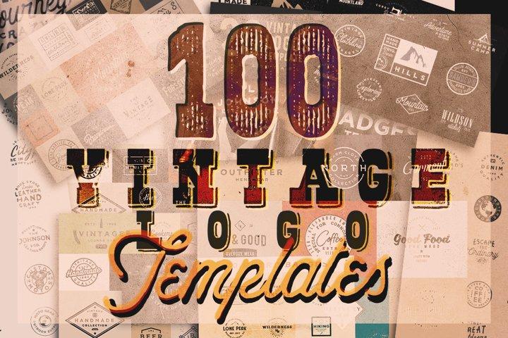 100 VINTAGE LOGO TEMPLATES