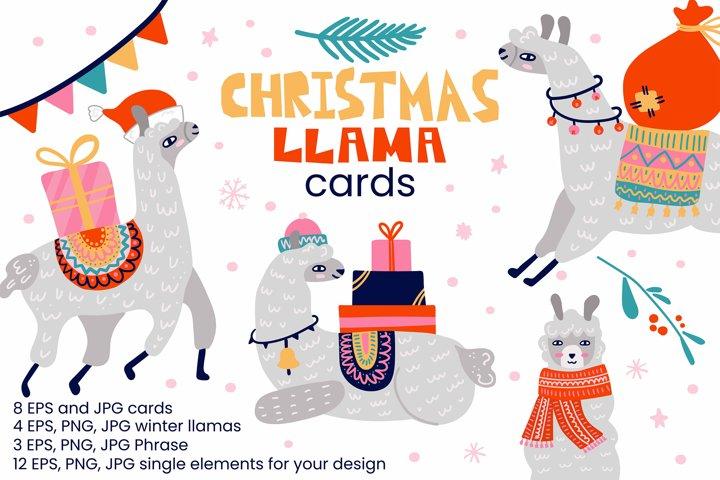 Christmas Llama cards