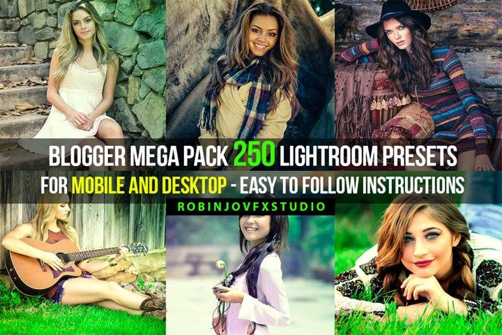 Blogger Mega Pack 250 Lightroom Presets