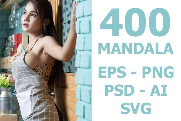 mandalas 400 bundles sexy. vector, eps, png, psd, svg