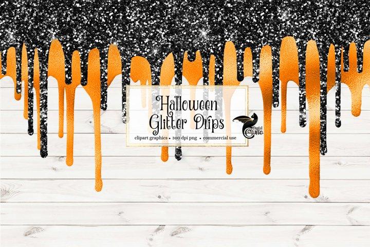 Halloween Glitter Drips Overlays