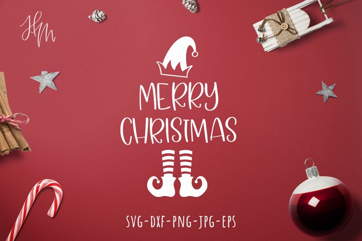 Merry Christmas cut file SVG DXF EPS PNG JPG