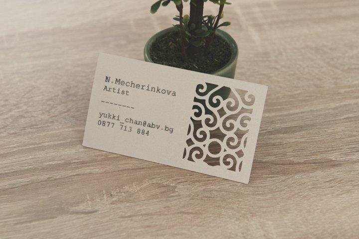Art business card template cutting file