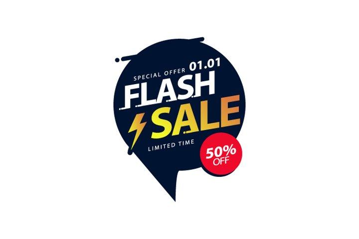 Flash sale banner design template special offer