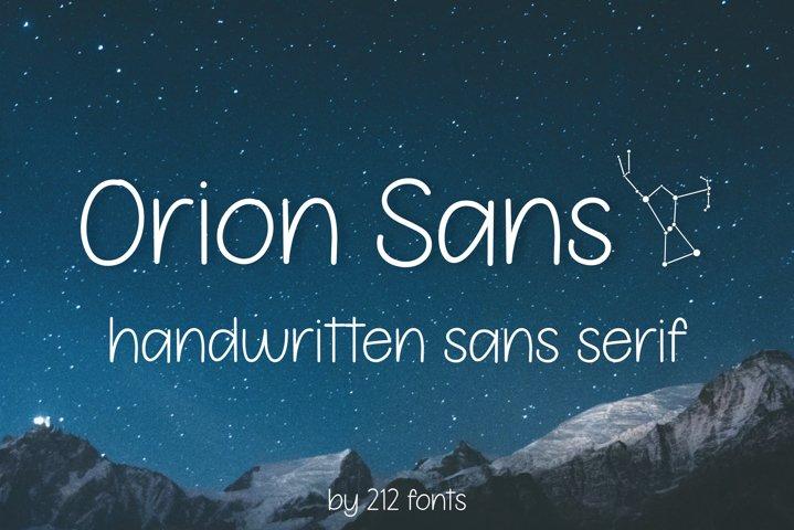 Orion Sans Serif Handwritten Optimistic Girly OTF Font