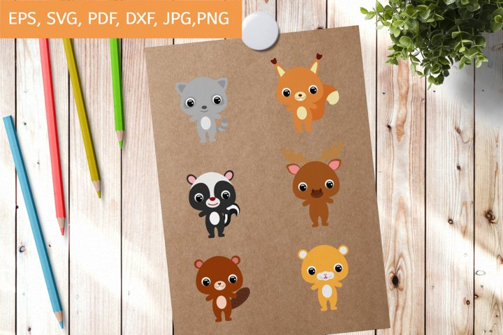Cutting File Cute Animals SVG, Cut Files, Clipart Printable