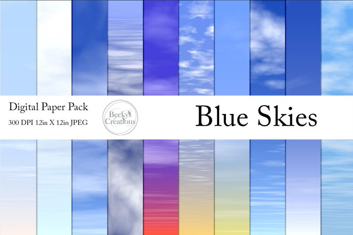 Blue Skies Paper Packs