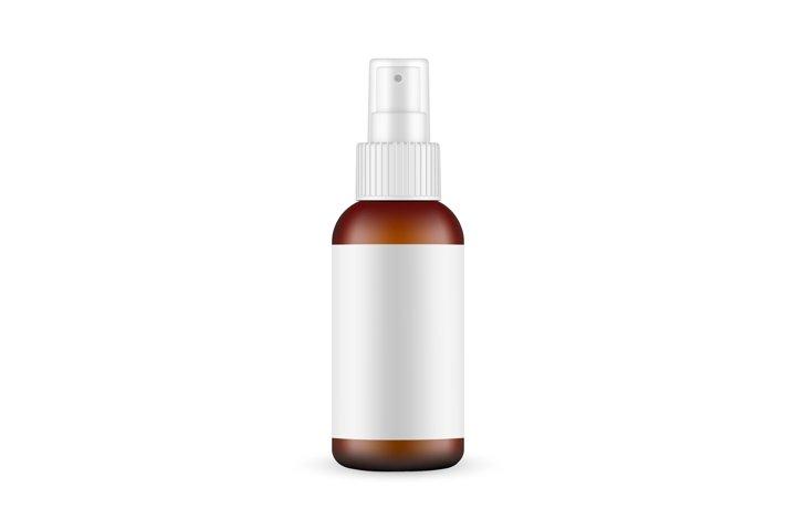 Glass Spray Bottle Mockup With Blank Label