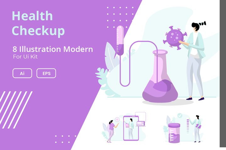 Illustration Health Checkup