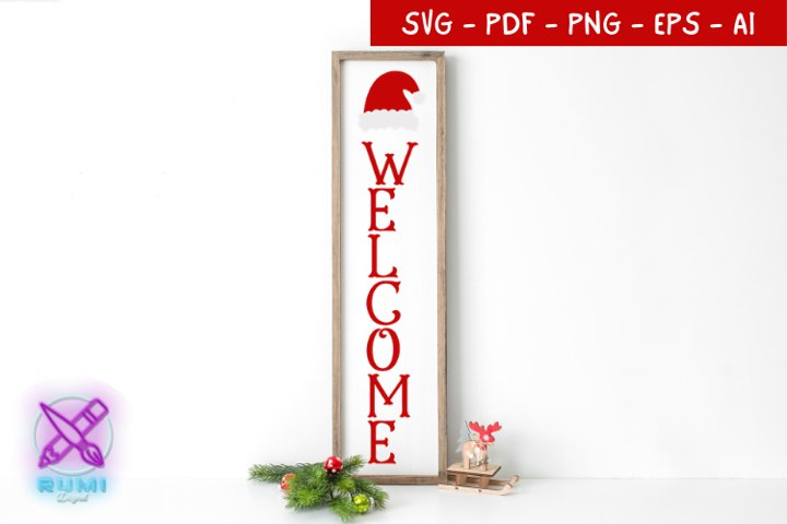 Welcome Sign, Christmas Front Porch Sign SVG