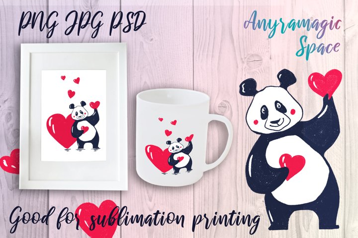 Sublimation Panda Love