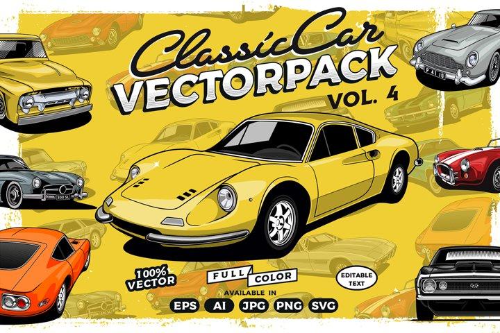 Classic Car Vector Collection vol. 4