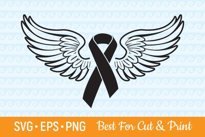 Awareness SVG Ribbon SVG Awareness Ribbon Wings Cancer SVG
