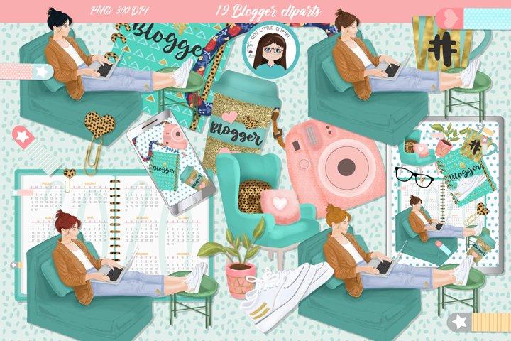 Blogger cliparts