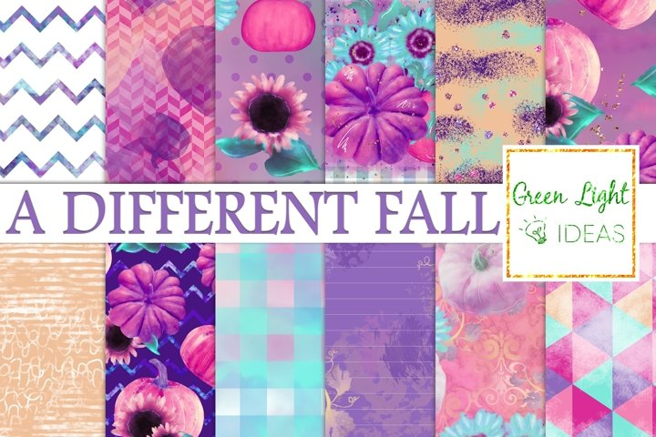 Pumpkins and Sunflowers Digital Papers, Fall Backgrounds
