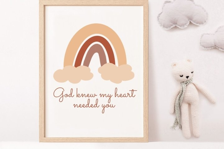 Rainbow Baby Printable Sign