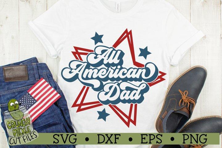 All American Dad Patriotic SVG Cut File