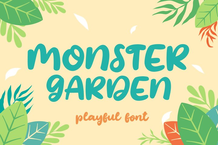 Monster Garden - Playful Style
