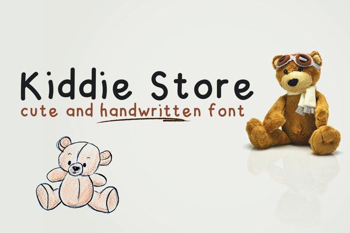 Kiddie Store - cute and handwritten font