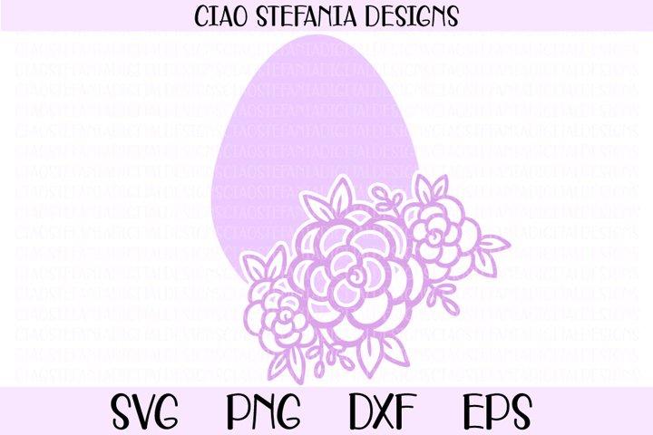 Easter Egg Flowers Easter Shirt SVG Cut File