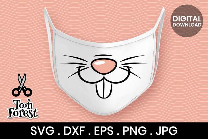 Bunny nose SVG, DXF, EPS, and PNG cut files for face mask