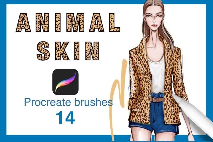 Animal brushes procreate set.