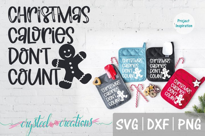 Christmas Calories Dont Count SVG, DXF, PNG, EPS