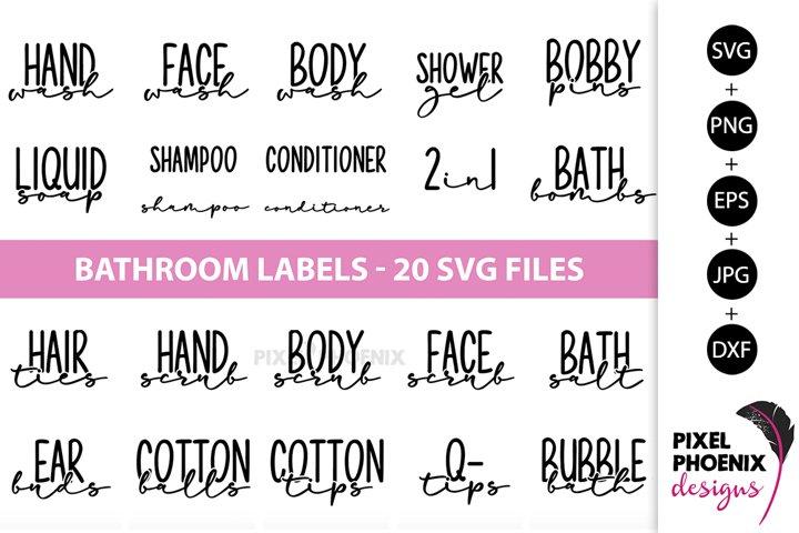 Bathroom Labels SVG, Bottle Labels, Jar Labels
