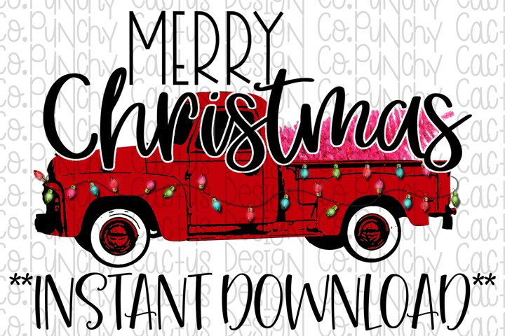 Merry Christmas Sublimation Download, Christmas