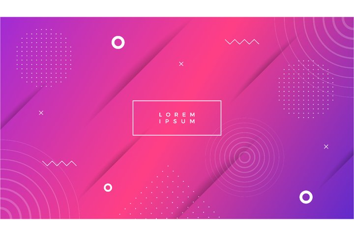 Colorful abstract background in memphis style vector