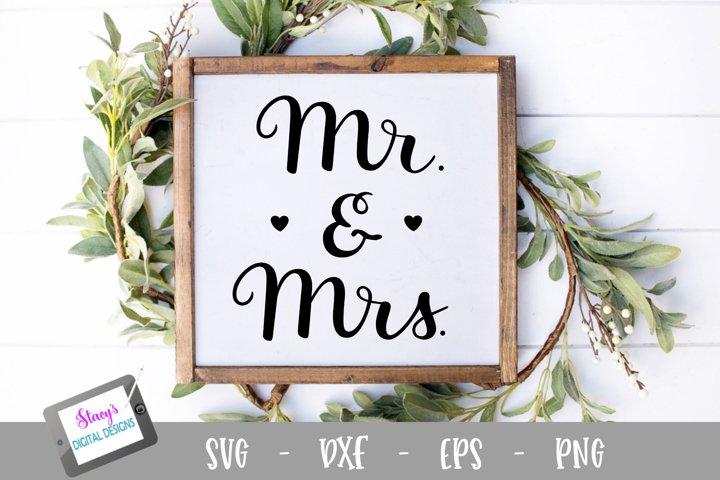 Mr. and Mrs. SVG - handlettered wedding svg example