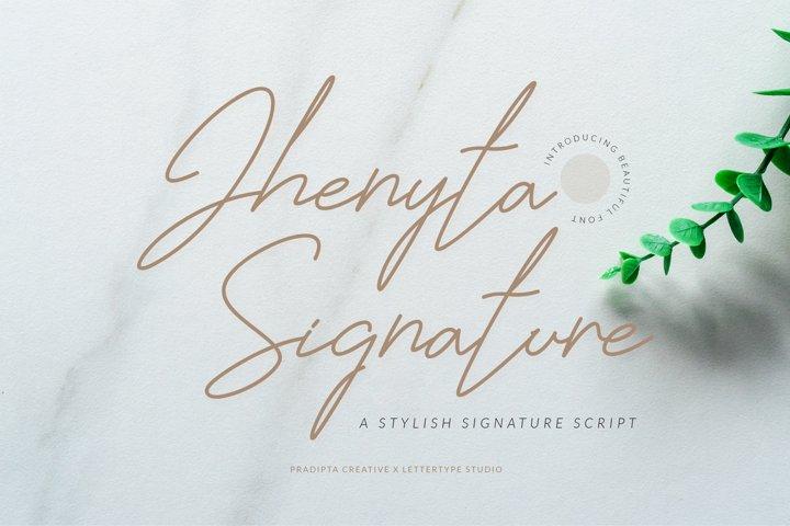 Jhenyta Signature Script