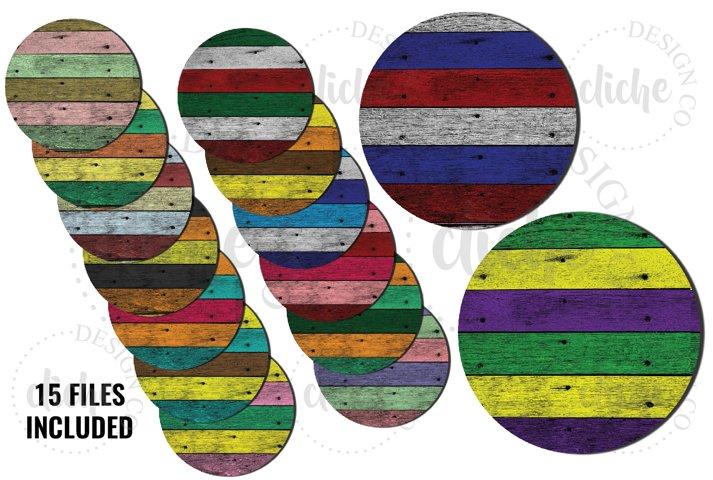 Barn Board Sublimation Coaster Design Background Bundle