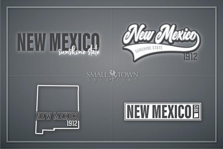 New Mexico, Sunshine State - slogan, PRINT, CUT & DESIGN