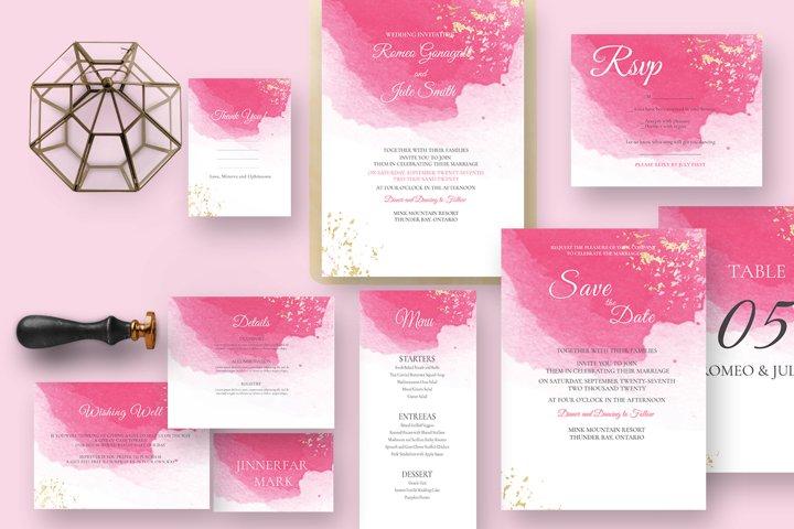 Classy watercolor wedding Suite