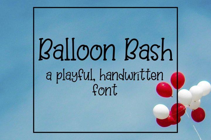Balloon Bash - Playful Serif Handwritten Font